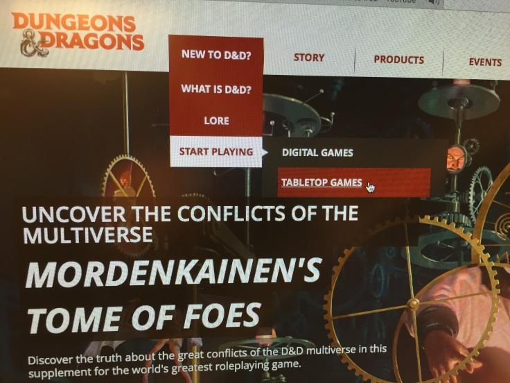 Wizards of the Coast Website