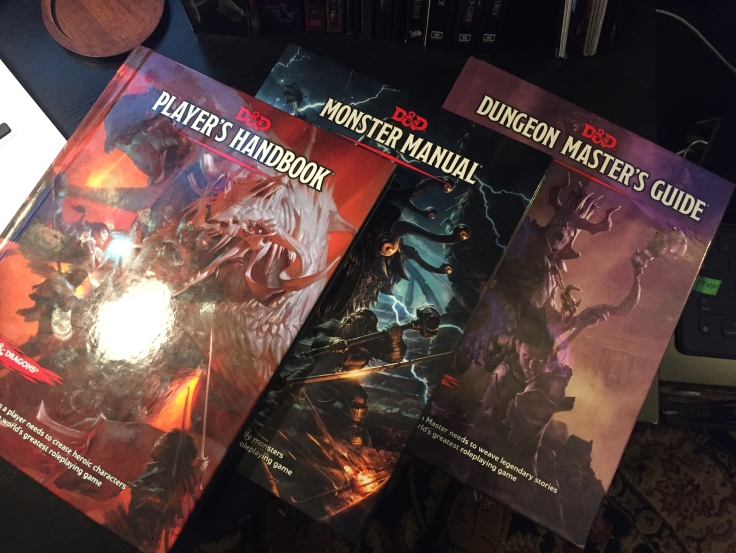 Dungeons and Dragons Fifth Edition Core Rulebooks