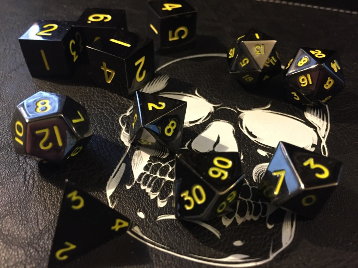 Polyhedral Dice for the Dungeons and Dragons Roleplaying Game