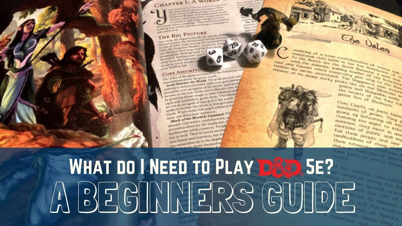What You Need to Get Started Playing Dungeons and Dragons Fifth Edition