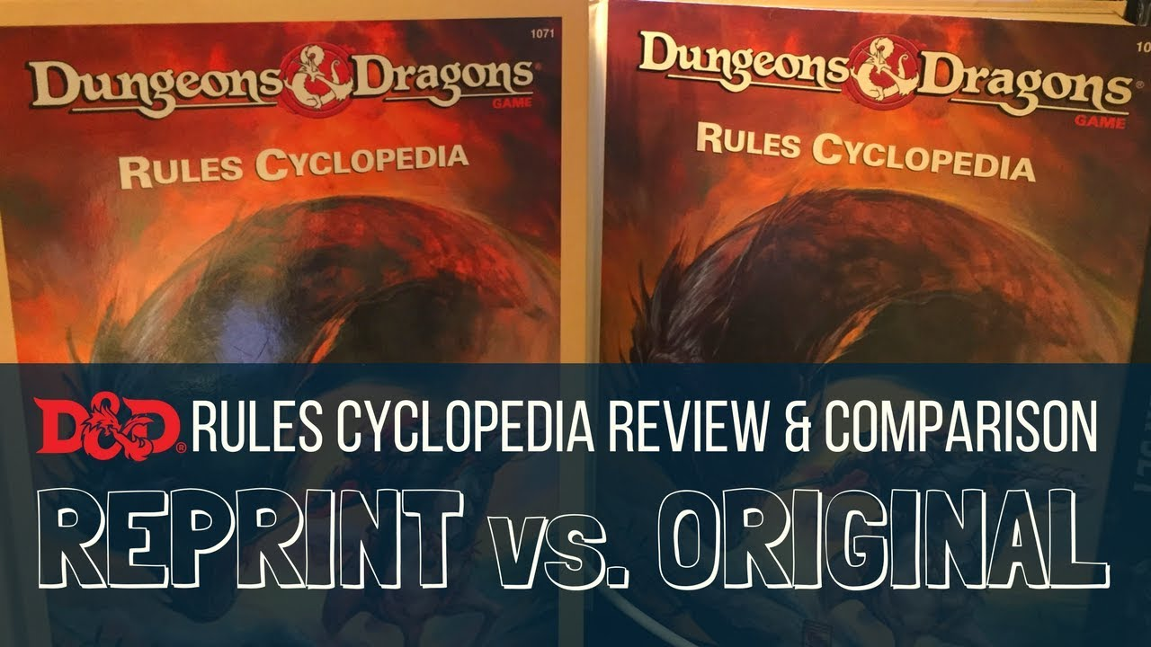 Dungeons and Dragons Rules Cyclopedia Review and Comparison