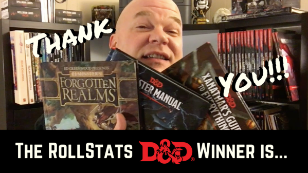 The Winner of the First RollStats Subscriber D&D Book Giveaway is...